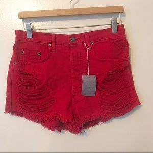 NWT Carmar High Rise Red Shorts size 26